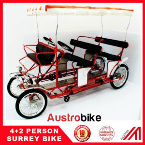 Bamboo Seat Four Wheel Quadricycle Surrey Sightseeing Bike From China Special Design pictures & photos