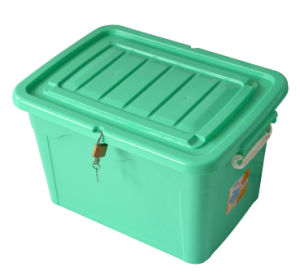 90L Colorful Plastic Storage Container Box with Wheels pictures & photos