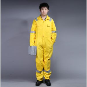 65% Polyester 35%Cotton Long Sleeve Safety Workwear Coverall with Reflective (BLY1016)