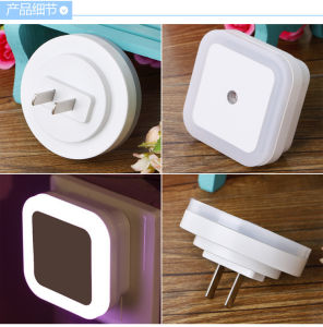 Mini Wall Plug Twilight Sensor LED Night Lamp Light pictures & photos