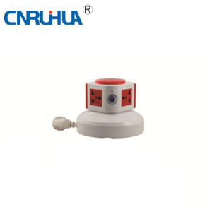Whole Sales OEM Cnruihua One-Layer 4-Way Vertical Floor Socket pictures & photos