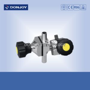 Ss316L Manual Plastic Handle Tee Diaphragm Valve (Clamp Ends) pictures & photos