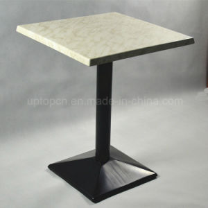 Cafe Cast Iron Base Moulded Board Werzalit Table (SP-RT478) pictures & photos
