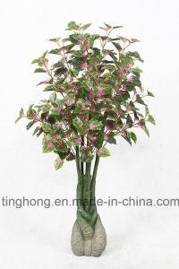New Design Artificial Plants with 118 Purple Perilla Leaves