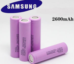 Samsung 18650 26f 2600mAh Battery pictures & photos