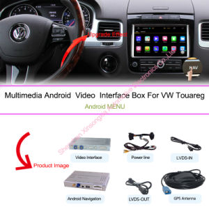 "Upgrade Car HD Android Interface Multimedia GPS Navigation Box for (10-16) VW 8""Touareg (RNS850 SYSTEM) pictures & photos"