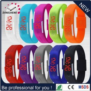 Fashion Promotion Watch Silicone LED Wrist Watch Silicone Red Lighter Watch (DC-590) pictures & photos