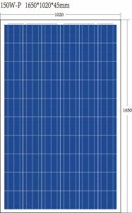 TUV ISO Ce Poly150 W Solar Panel with High Efficiency and 10 Years Quality Warranty From Factory Popular in Thailand Market pictures & photos