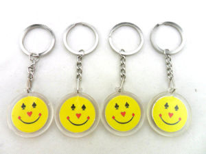 Customized Acrylic Keychain Plastic with Logo pictures & photos