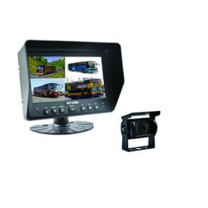Quad Car Rearview Monitor with Waterprof IP69 Camera pictures & photos