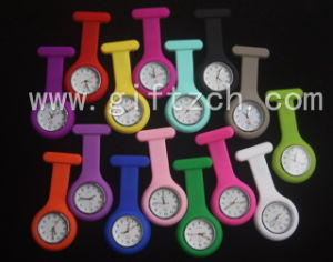 Metal Clip with Glow in Dark Hands New Silicone FOB Nurse Watch