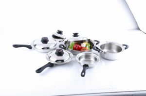 10PCS High Quality Triply Ss Cookware Set (W1004) pictures & photos