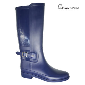 Women′s PVC Horse Riding High Boot pictures & photos