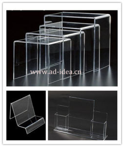 Acrylic Display Stand Acrylic Ladder Display Shelving pictures & photos