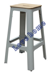 Industrial Steel Dining Restaurant Coffee Wooden Bar Stools pictures & photos