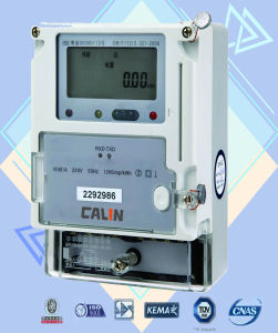 Single Phase IC Card Prepaid Meter with IC Card Vending System pictures & photos