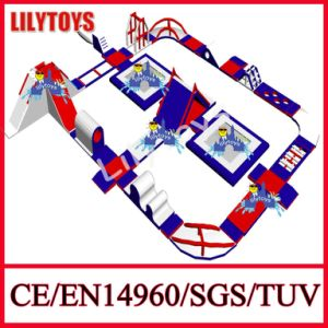 Giant Blue and Red Inflatable Water Floating Games Slides for Water Park Games (Lilytoys-WP42) pictures & photos