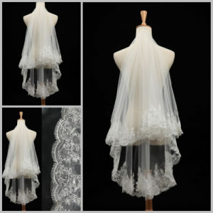 The New Double Short Paragraph Soft Lace Bridal Veil (V006) pictures & photos