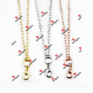 Wholesale Fashion Metal Gold / Silver Color Brass Chain Necklace Souvenir (BCN50829)