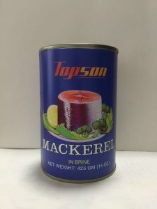 Top Quality 425g Mackerel in Brine pictures & photos