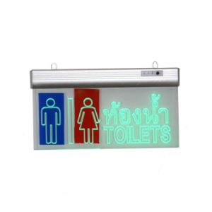 LED Lighting Clear Acrylic Toilet Sign for Shopping Mall pictures & photos