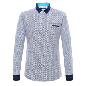 Men′s Print Dress Shirt Factroy Cotton Leisure Shirt
