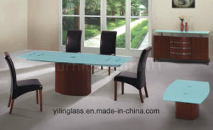 Frosted Pattern Tempered Glass for Living Room Table pictures & photos