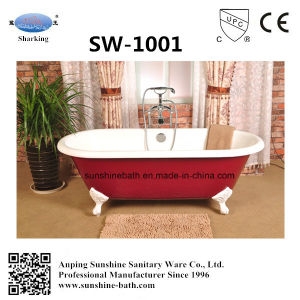 Top Enameled Double Freestanding Cast Iron Bathtub Sw-1001