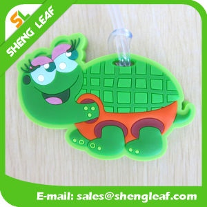 Turtle Convenient Brand PVC Rubber Luggage Tag (SLF-LT048) pictures & photos