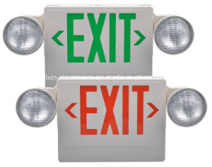 UL Rechargeable Battery Combo LED Exit Sign & Emergency Light pictures & photos