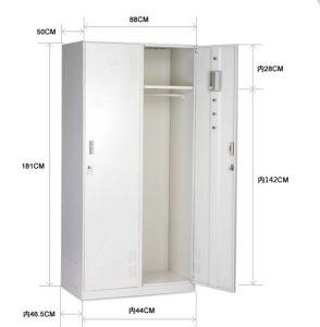 Steel Bedroom Locker with 2 Doors Steel Changing Room Locker pictures & photos