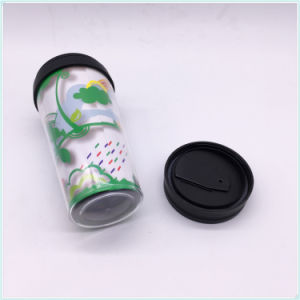Logo Customized 450ml Double Wall Plastic Travel Mug pictures & photos