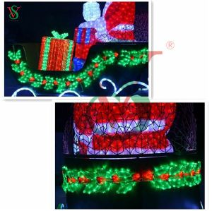 Deer Carriage Santa Claus Motif Light for Christmas Outdoor Decoration pictures & photos