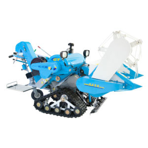 Two Color Mini Combine Harvester with 1000mm Cutting Width