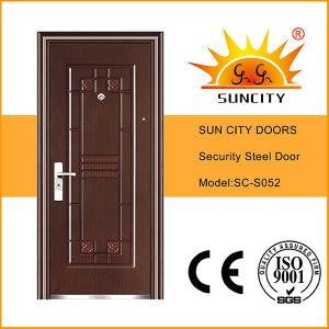 Top Design Low Price Iron Panel Doors (SC-S052) pictures & photos