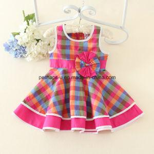 Fashion Flower Lovely Princess Girls Dress Children Wear Apparel pictures & photos