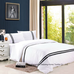 Hot Sale European Design Black&White Stripes Bedding Set pictures & photos