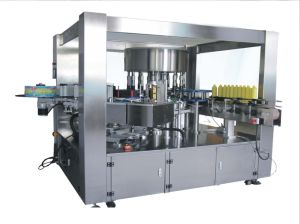 OPP Hot Melt Glue Roll Feed Labeling Machine/Labeler pictures & photos
