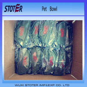 Portable Travelling Use Folding Type Polyester Pet Food Dog Bowl pictures & photos