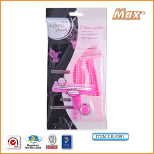 Twin Stainless Steel Blade Disposable Razor Fro Woman (LB-5091) pictures & photos