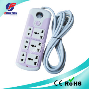 Colors Extension Socket Power Socket with Voltmeter pictures & photos