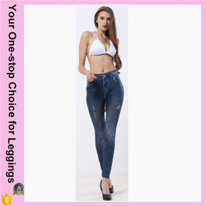 Plus Size High Waist Pockets Customized Printed Stretchy Seamless Jeans Leggings pictures & photos