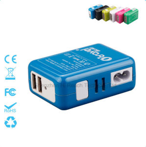 Four Ports Universal Charger Portable Phone Charger Interchangeable Plug Charger 5V=2.1A pictures & photos