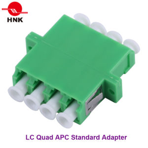 LC Quad Singlemode APC Standard Plastic Fiber Optic Adapter pictures & photos