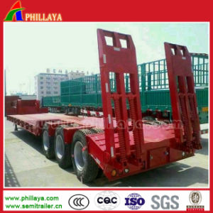 3axles 60ton Heavy Duty Truck Low Bed Semi Trailers pictures & photos