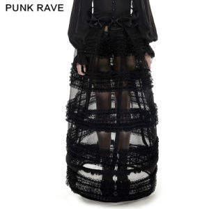 Lq-073 Female Multi-Level Perspective Lolita Skirt Adjustable Pannnier and Bustle From Punkrave pictures & photos
