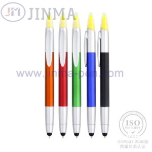 The Promotion Highlighter Ballpoint Pen Jm--6018 with One Stylus Touch pictures & photos