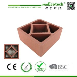 120*120mm Huasu Eco WPC Wood Posting for Fencing and Railing pictures & photos
