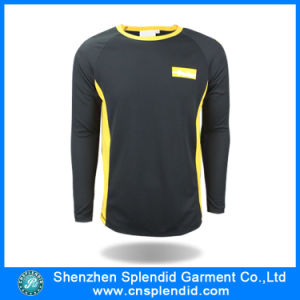 High Quality Black Long Sleeve Tee Shirts with Custom Logo