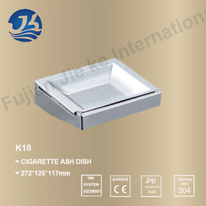 Bathroom Stainless Steel Cigarette Ash Dish (K10)